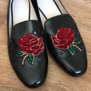 Zara Rose Embellished Loafers